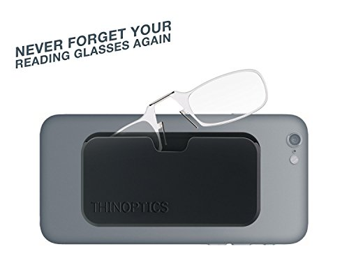 ThinOptics Reading Glasses + Black Universal Pod Case | Classic Collection, Clear Frames, 2.50 Strength by ThinOptics (Image #6)