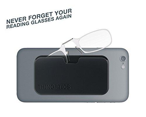 ThinOptics Reading Glasses + White Universal Pod Case | Classic Collection, Blue Frames, 1.00 Strength by ThinOptics (Image #6)