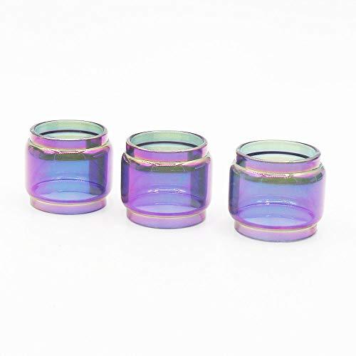 DEKPRO 3PCS Replacement Fat Glass Tank Rainbow for S-N-O-W-W-O-L-F 6-M-L T-a-n-k Clear Silicone Protective Skin Case Seals (Rainbow-3PCS) (Best Tank For Rx200)