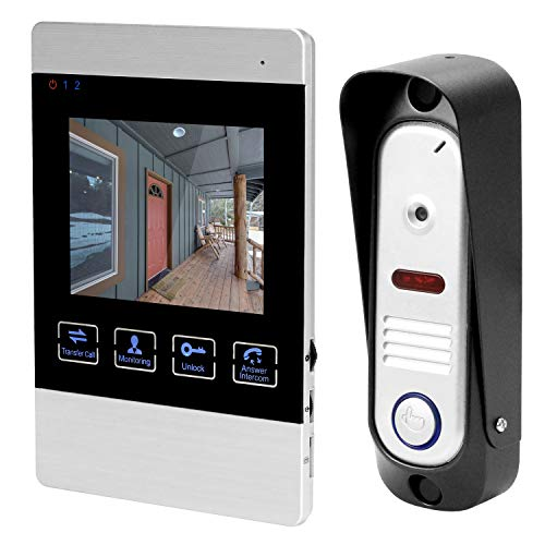 HomeFong Video Doorbell, Waterproof Intercom Doorbell Kit with 4 Inch HD 1200TVL Color TFT Display Screen/IR Night Vision,Rainproof Video Intercom Doorbell Kit Two-Way Intercom/Hands Free Call