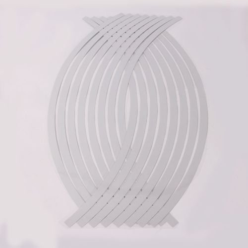 "FDS 16pcs 17""-19"" Car Auto Trucks Motorcycle Reflective White Rim Stripe Wheel Tape Stickers Decal"