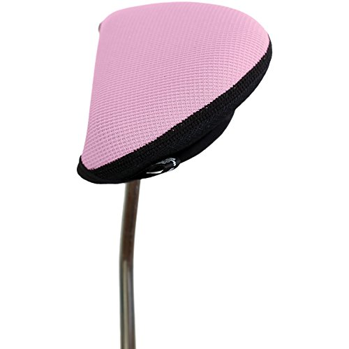 Stealth Golf Club Headcover for Oversized Mallet / 2 Ball Putter - (Pink Putter Cover)