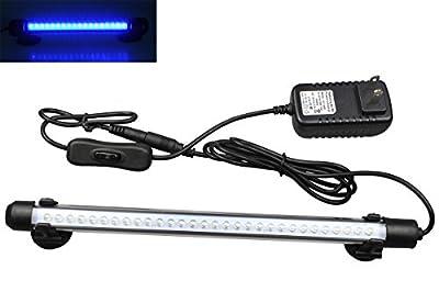 Mingdak LED Aquarium Light For Fish Tanks,30 LEDS,12-Inch,Blue