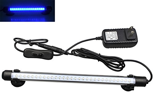 Mingdak LED Aquarium Light for Fish Tanks,30 Leds,11-inch,blue
