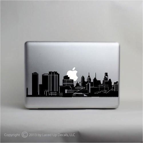 Philadelphia Skyline Laptop Vinyl Decal (Philly Window Decals compare prices)