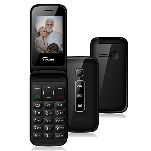 YINGTAI Senior Mobile Phone Big Button Flip Phone for Elderly, Easy to Use Unlocked Phone for Seniors (compatilble with AT&T and T-Mobile)