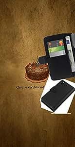 // PHONE CASE GIFT // Moda Estuche Funda de Cuero Billetera Tarjeta de crédito dinero bolsa Cubierta de proteccion Caso Sony Xperia Z3 D6603 / Chotolate Birthday Cake /