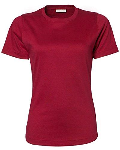 Tee Jays - Camiseta - para mujer rojo oscuro