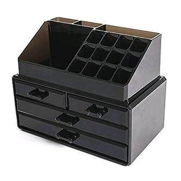 FOBUY Caja acrílica Estante de maquillajes Maquillaje Cosméticos Joyería Organizador (4 Drawers Clear C) (Negro): Amazon.es: Juguetes y juegos