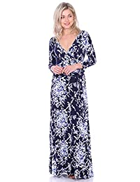 578be3627 popana Maxi vestido con mangas Casual Colorful Summer Beach impresiones  florales – fabricado ...