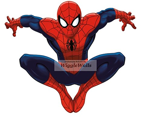 6 Inch Ultimate Spiderman Clinging Spider Man Marvel Comics Removable Peel Self Stick Adhesive Vinyl Decorative Wall Decal Sticker Art Kids Room Home Decor Boys Children Nursery Baby 6x5 Inch Tall