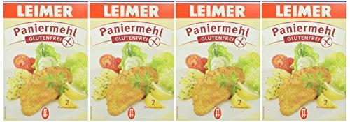 Leimer Paniermehl glutenfrei Packung, 4er Pack (4 x 200 g)