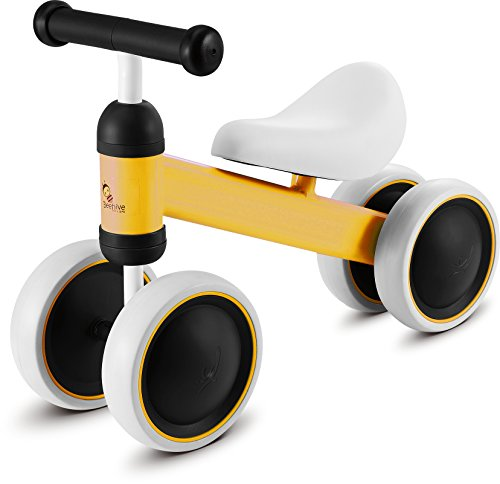 Training Balance Bike Kids Sport Bicycle No Pedal Toddler Walking Buddy Excellent Present for Ages 2-5 years (00yellow)