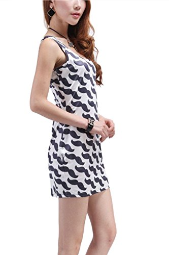 Damen Digital gedruckten Bodycon-Tank-Mini-Kleid