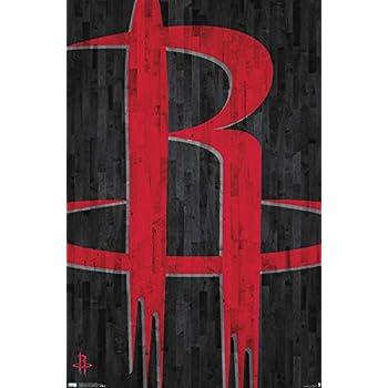 Trends International NBA Houston Rockets - Logo 19 Wall Poster, 22.375