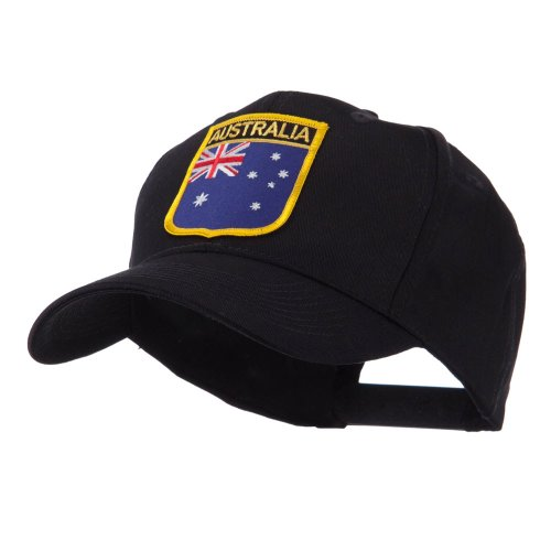 Asia Australia and Other Flag Shield Patch Cap - Australia OSFM (Australia Cap)