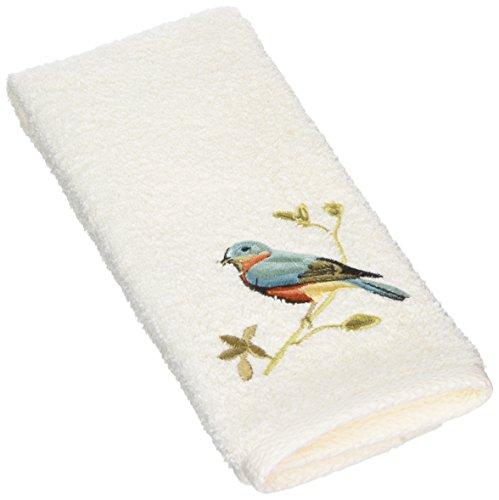 Avanti Premier Songbirds Fingertip Towel, Ivory ()