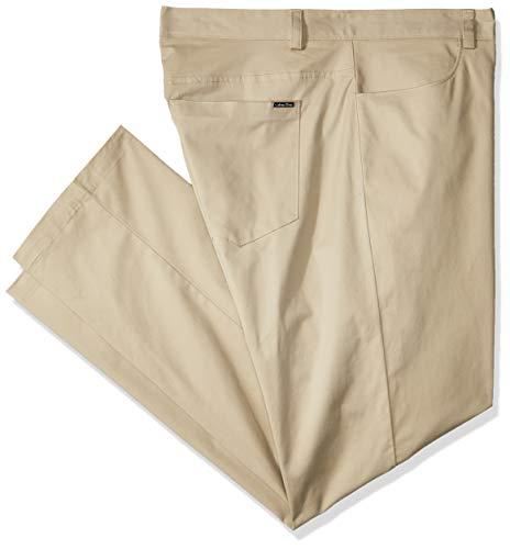 Calvin Klein Men's Stretch Sateen Casual Pants Classic Khaki 31W x - Trendy Herringbone