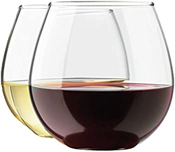 4-Pc. Zeppoli Stemless Clear Durable Wine Glass Set