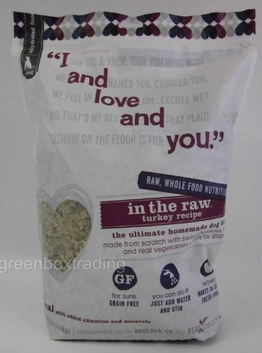 I and Love and You In The Raw Turkey Recipe Dog Food, 5.5 Pound - 3 per case.