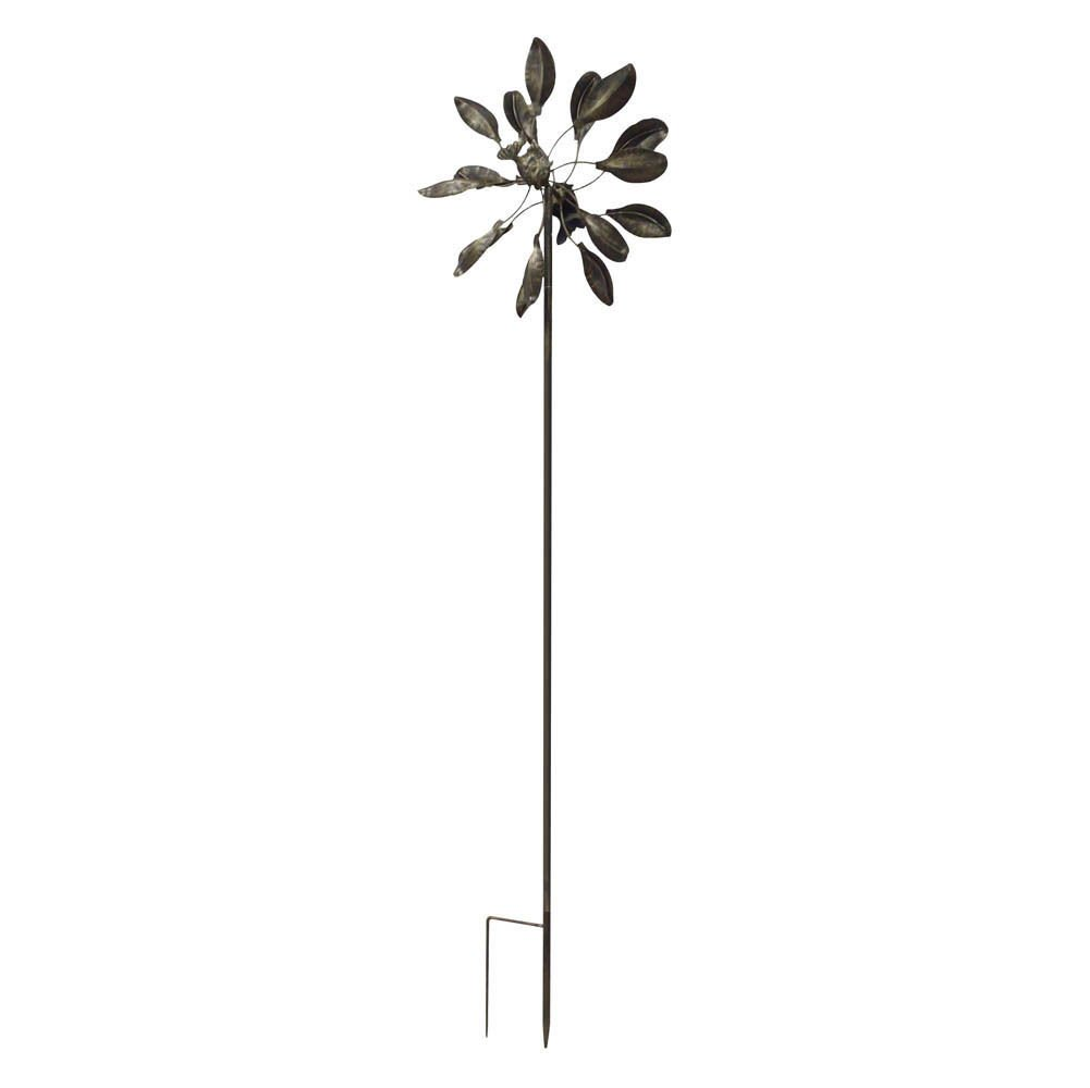 Kinetic wind Sculpture Modern Art Dual sun spinner metal large outdoor Pinwheel