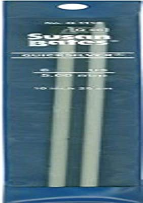 Susan Bates 10-Inch Silvalume Single Point Knitting Needle 2.75mm Silver Pink