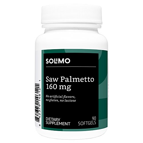 Amazon Brand - Solimo Saw Palmetto 160mg, 90 Softgels, 45-Day Supply