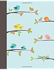 Journal: Singing Birds 8x10 - LINED JOURNAL - Writing journal with blank lined pages