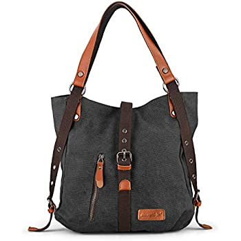 Amazon.com: Hiigoo - Bolso de mano de lona de algodón con ...