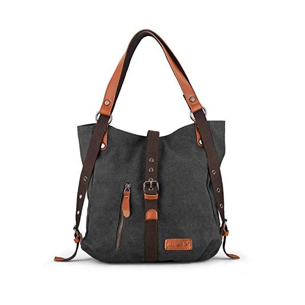 SHANGRI-LA Purse Handbag Tote shoulder Bag for Women Casual School Hobo Bag Rucksack Convertible Backpack