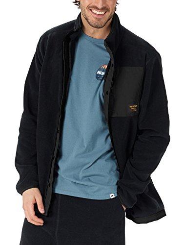Burton Men's Hearth Snap-Up Fleece Sweaters, True Black, Medium