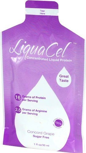 LiquaCel Liquid Protein 1oz Packets (30) Grape by Global Health Products