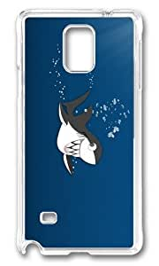 Adorable funny shark teeth Hard Case Protective Shell Cell Phone For Case Iphone 4/4S Cover - PC Transparent