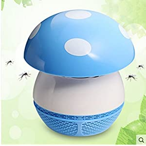 CTKcom LED Mosquito Trapper Electric Mosquito Inhaler Killer Lamp Mushroom- Eco-friendly Effective USB Insect Repeller Killer Killing LED Lamp Mosquito Trap Lamp for Baby Pregnant Bedroom(Blue+USB)