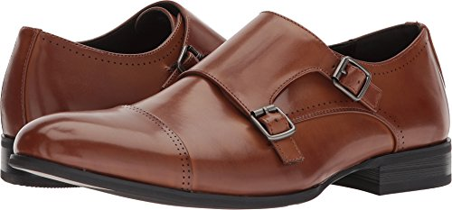 Unlisted by Kenneth Cole Men's EEL Monk-Strap Loafer Cognac 7 M US
