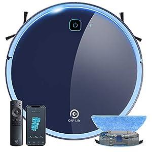 【掃除・水拭き両用】ロボット掃除機 静音設計 お掃除ロボット 水拭き 床拭き 拭き掃除 全自動 ロボットクリーナー