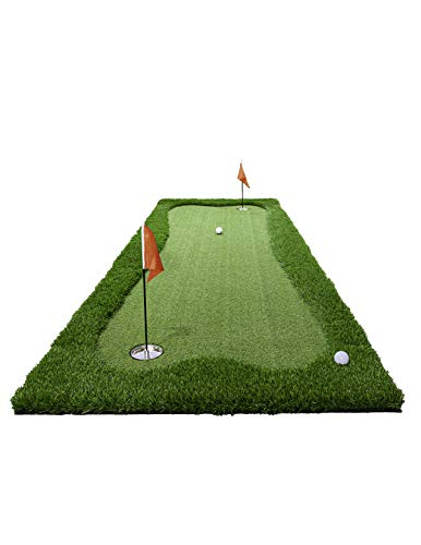 JEF WORLD OF GOLF Professional Large Realistic Putting Training Mat, 3 Feet by 10 Feet