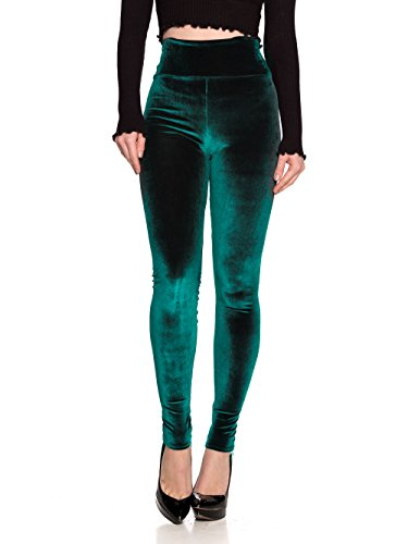 Women's J2 Love Velvet High Waist Leggings, Large, Plush Green