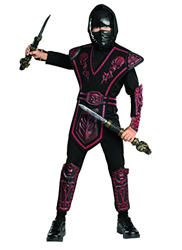 Rubies Red Skull Warrior Ninja Child Costume, Medium,