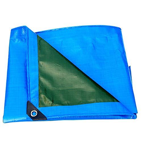 組立ポットコウモリ日焼け止め日焼け止め防水布青と緑の防雨布三輪車防風防水プラスチック布耐摩耗防水ポンチョ200グラム/平方メートル(23サイズご利用いただけます) (色 : Blue and green, サイズ さいず : 6 * 6m)