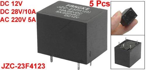 Prop/ósito DealMux DC 28V 5A PBC Monte general rel/é DC 12V bobina 5 Pcs 10A AC 220V