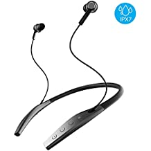 Bluetooth Headphones, Iqua Yuppy Wireless Neckband Bluetooth Headphones for Running, 10-Hour Battery, Noise Cancelling Wireless Earbuds, Waterproof IPX7, SweatGuard Technology (Comfy & Fast Pairing)