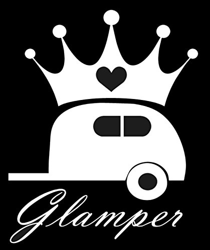 "Glamper Decal- {WHITE} 5"" Sticker -Diva Camping, Funny, used for sale  Delivered anywhere in USA"
