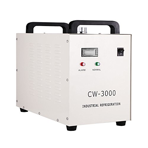 (Mophorn Water Chiller 9L Capacity Industrial Water Chiller CW-3000DG Thermolysis Type Industrial Water Cooling Chiller for 60W 80W Laser Engraving Machine(CW-3000DG))