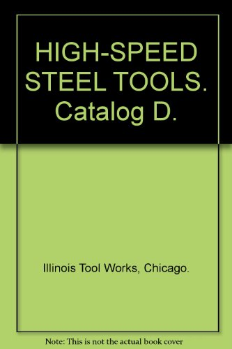 High Speed Steel Tools  Catalog D