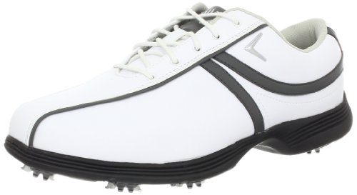 Callaway Footwear Women's Savory Golf Shoe,White/Dark Grey,7.5 M US