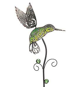 Regal Art & Gift jardín rústico colibrí 7,75cm x1.4cm x38cm Metal y cristal juego–al aire libre estatuas
