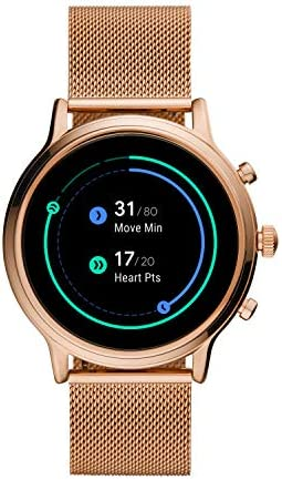 Fossil Gen 5 Julianna Stainless Steel Touchscreen Smartwatch with Speaker, Heart Rate, GPS, NFC, and Smartphone Notifications 41x70X0mWUL