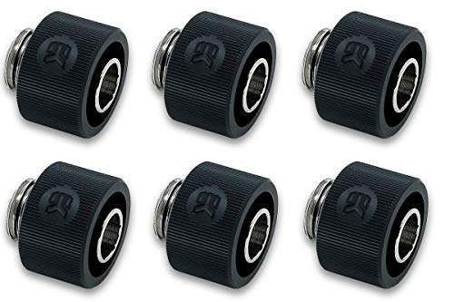 (EK-ACF Compression Fitting 12/16mm (7/16 x 5/8) - Black 6 Pack)