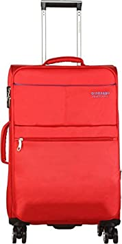 Giordano Polyester 28 cms Red Softsided Check in Luggage  Oxford812 RD28  Suitcases   Trolley Bags